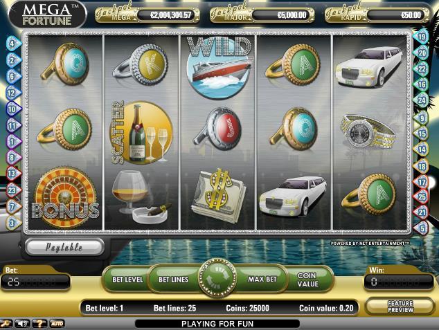 online Spilleautomater Mega Fortune NetEnt