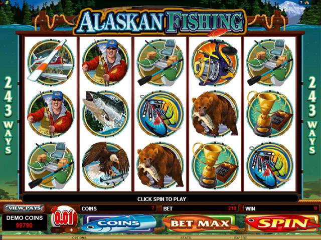 Alaskan Fishing Microgaming spilleautomater screenshot