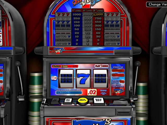 Red White & Blue 7s Betsoft spilleautomater screenshot