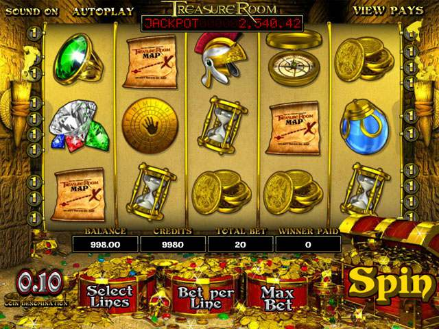 Treasure Room Betsoft spilleautomater screenshot