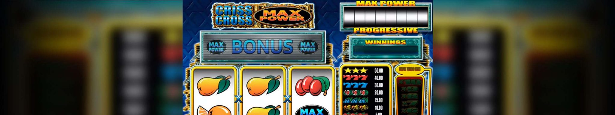 Criss Cross Max Power Microgaming spilleautomater slider