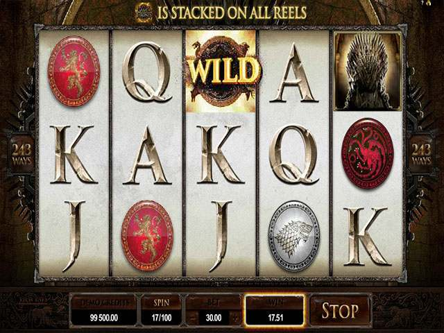 Game of Thrones microgaming spilleautomater screenshot