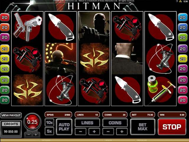 HitMan microgaming spilleautomater screenshot