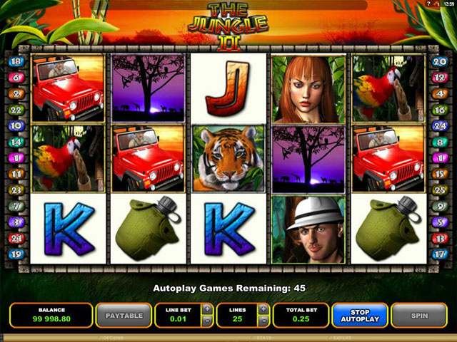 Jungle II microgaming spilleautomater screenshot