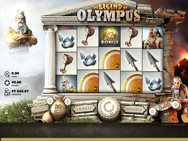 Legend Of Olympus microgaming spilleautomater screenshot