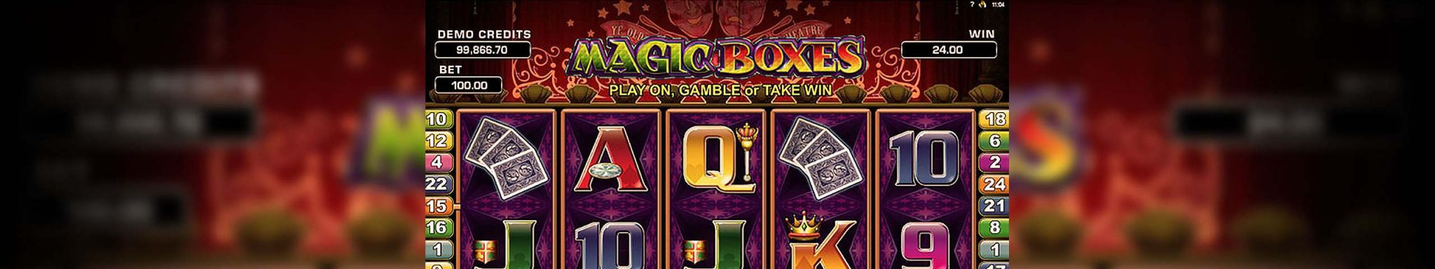 Magic Boxes Microgaming spilleautomater slider