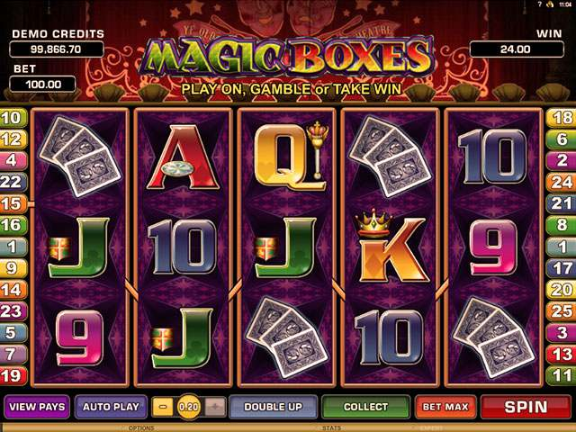 Magic Boxes Microgaming spilleautomater screenshot