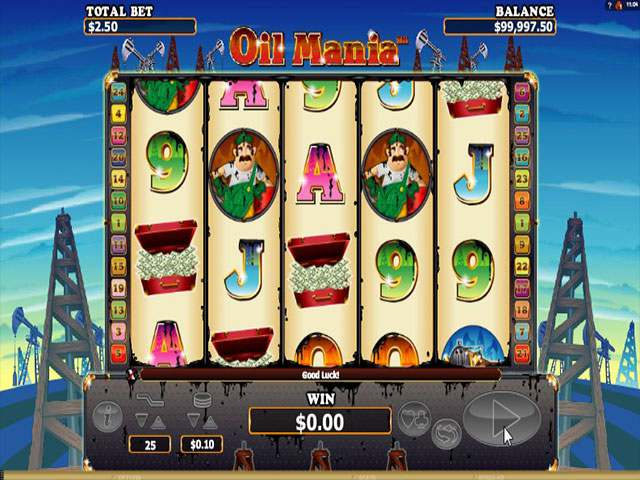 Oil Mania Microgaming spilleautomater screenshot