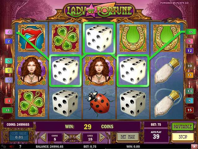 Lady Of Fortune PlaynGo spilleautomater screenshot