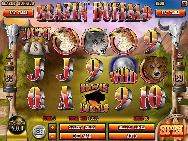 Norske Spilleautomater  Blazin' Buffalo Rival  SS  - Himmelspill.com