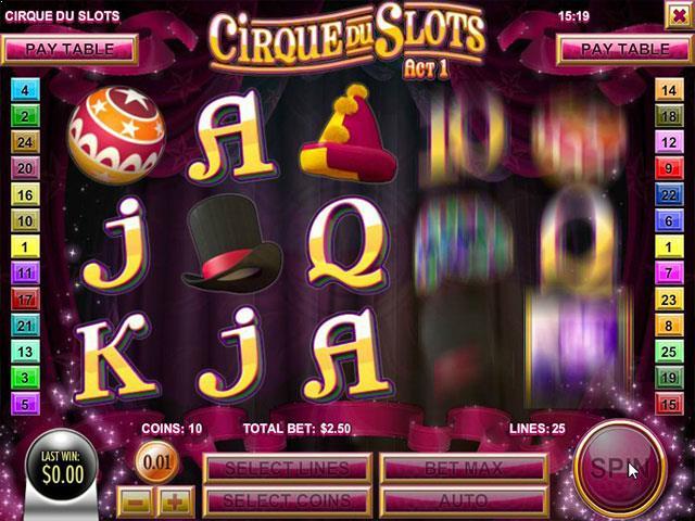 Norske Spilleautomater  Cirque du Slots Rival  SS  - Himmelspill.com