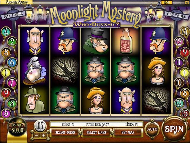 Norske Spilleautomater Moonlight Mystery Rival SS - Himmelspill.com
