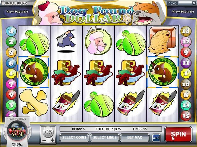 Norske Spilleautomater   Dog Pound Dollars Rival   SS  - Himmelspill.com