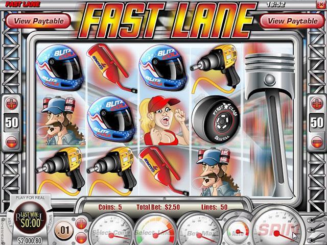 Norske Spilleautomater   Fast Lane Rival   SS  - Himmelspill.com