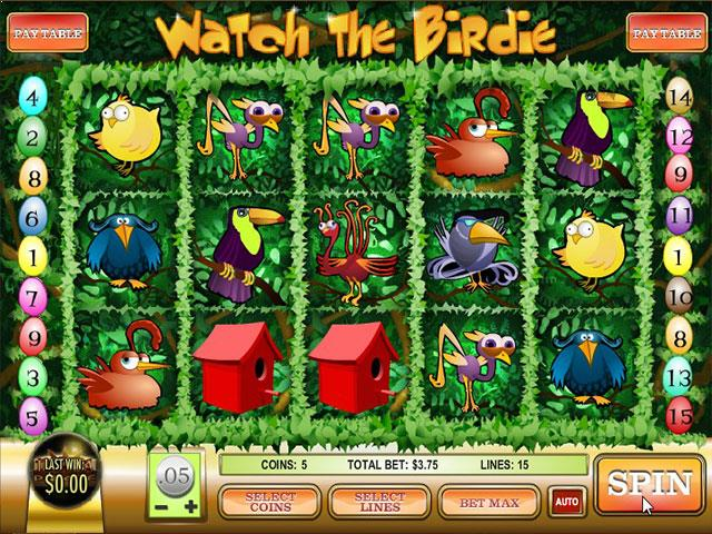 Norske Spilleautomater Watch the Birdie Rival   SS  - Himmelspill.com