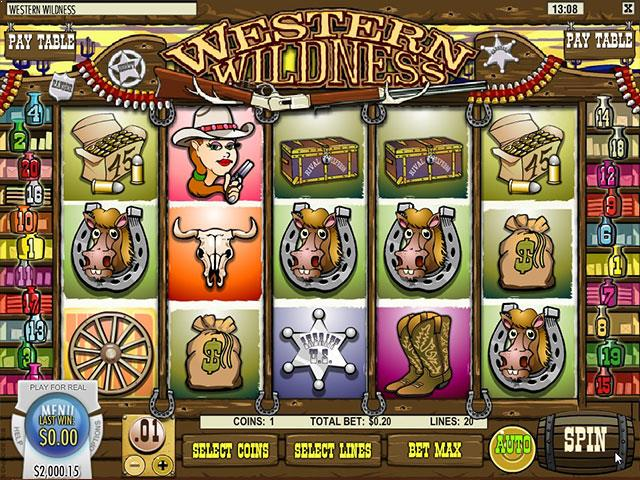 Norske Spilleautomater Western Wildness Rival   SS  - Himmelspill.com