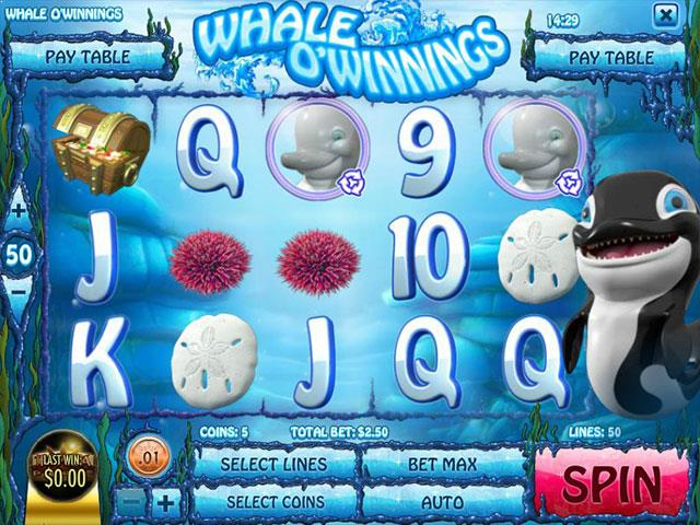 Norske Spilleautomater Whale O' Winnings Rival   SS  - Himmelspill.com