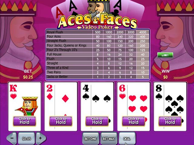 Norske Spilleautomater Aces and Faces, Rival SS - Himmelspill.com
