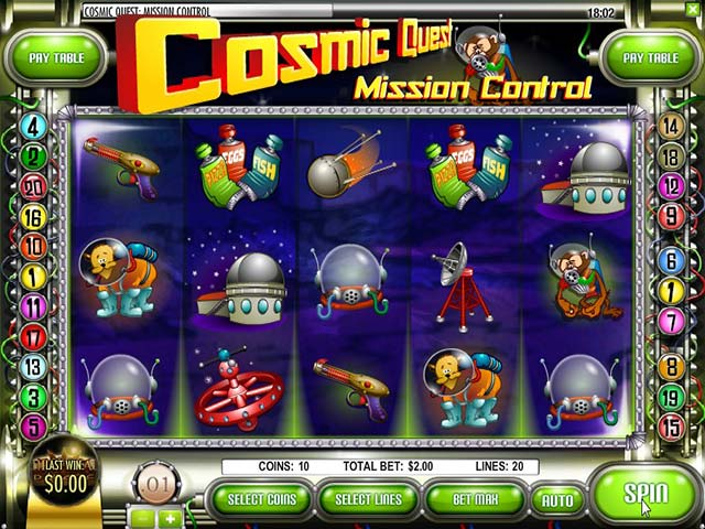 Norske Spilleautomater Cosmic Quest: Mission Control Rival SS - Himmelspill.com