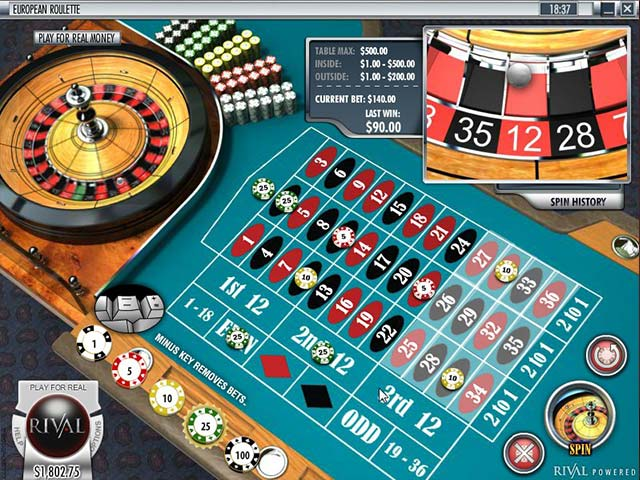 Roulette European Roulette, Rival SS - Himmelspill.com