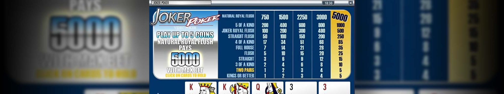 Video poker Joker Poker, Rival Slider - Himmelspill.com