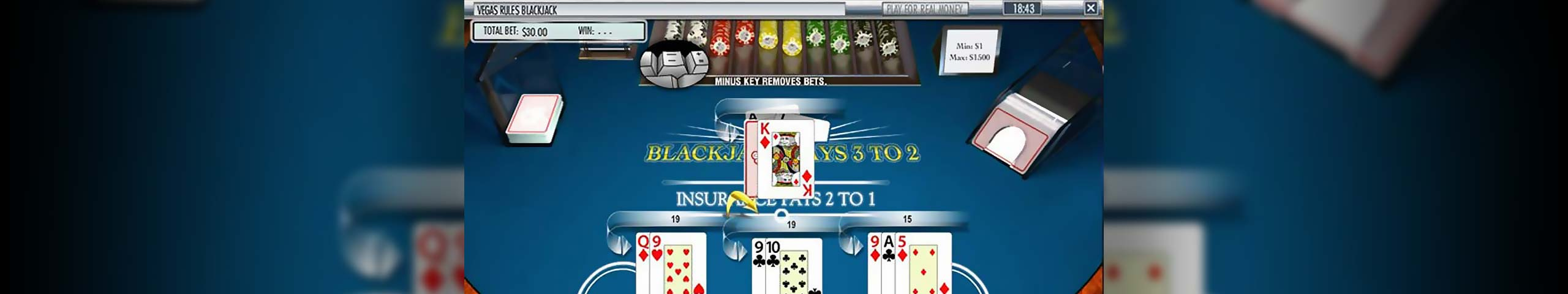 Blackjack Multi-hand Blackjack, Rival Slider - Himmelspill.com
