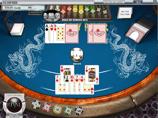 Poker Pai Gow, Rival SS - Himmelspill.com