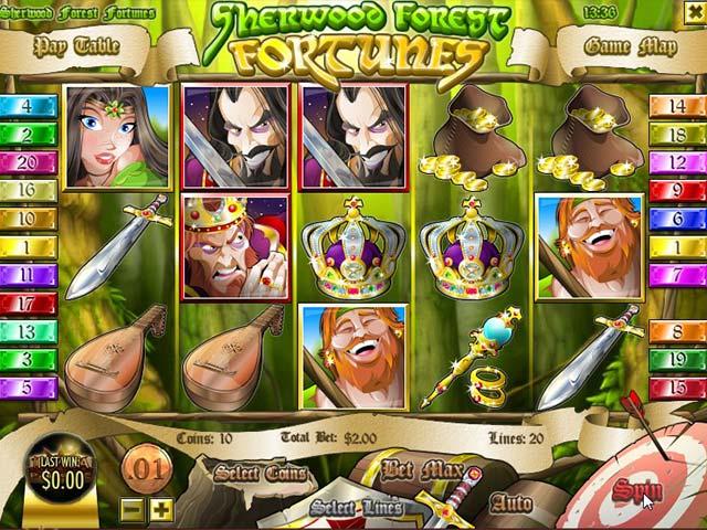 Norske Spilleautomater Sherwood Forest Fortunes, Rival SS - Himmelspill.com