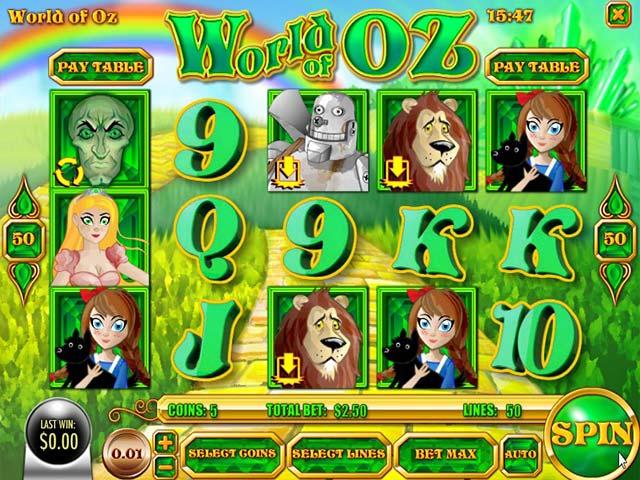 Norske Spilleautomater World of Oz, Rival SS - Himmelspill.com