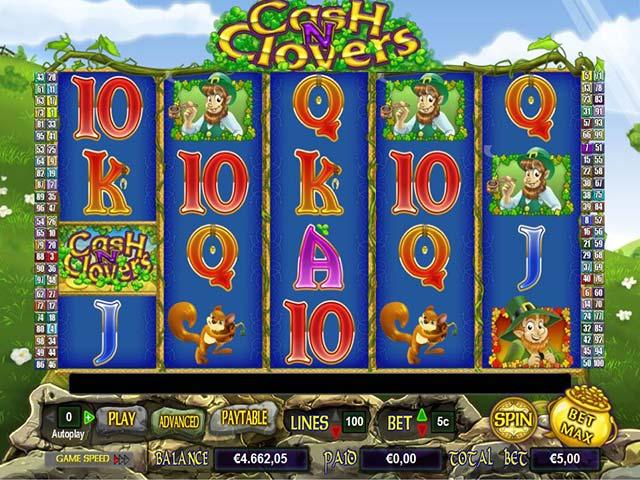 Norske spilleautomater Cash N Clovers, Cryptologic SS - Himmelspill.com