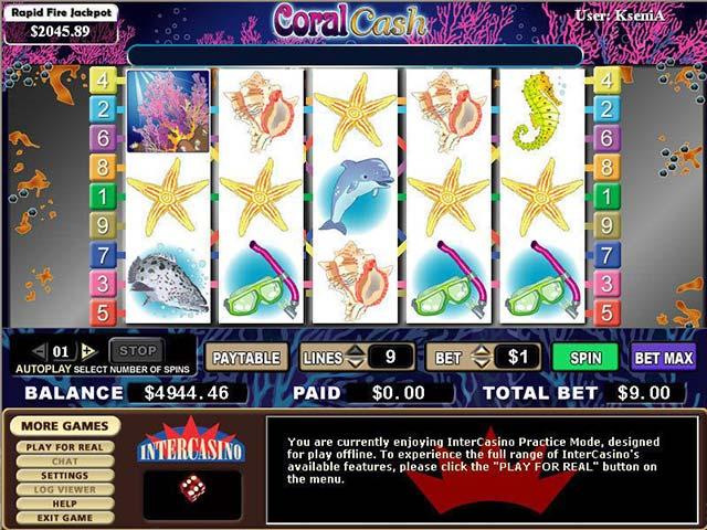 Norske spilleautomater Coral Cash, Cryptologic SS - Himmelspill.com