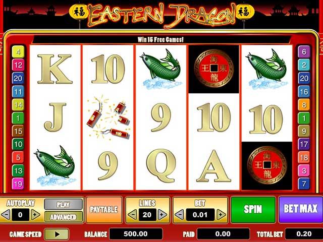 Norske spilleautomater Eastern Dragon, Cryptologic SS - Himmelspill.com