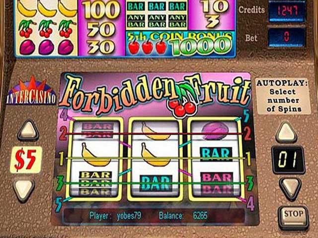 Norske spilleautomater Forbidden Fruit, Cryptologic SS - Himmelspill.com