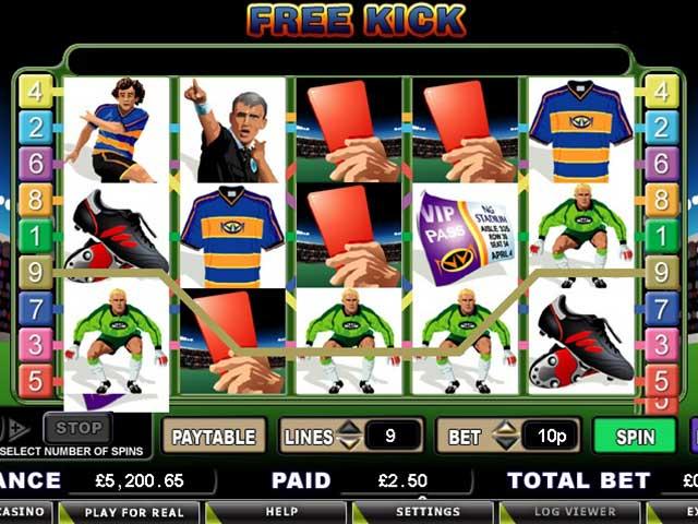 Norske spilleautomater Free Kick, Cryptologic SS - Himmelspill.com