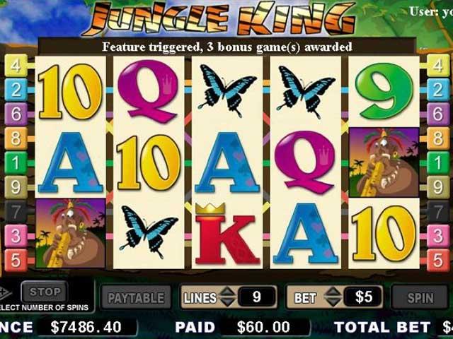 Norske spilleautomater Jungle King, Cryptologic SS - Himmelspill.com