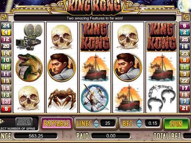 Norske spilleautomater King Kong, Cryptologic SS - Himmelspill.com