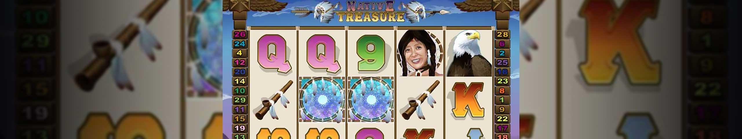 Norske spilleautomater Native Treasure, Cryptologic Slider - Himmelspill.com