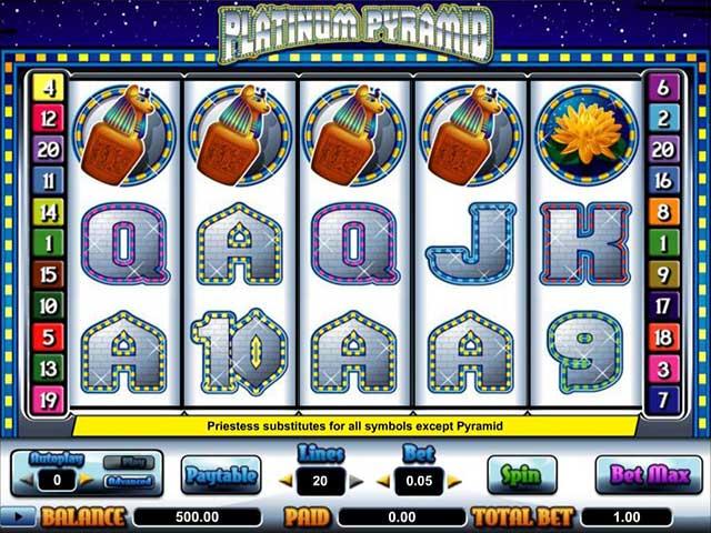 Norske spilleautomater Platinum Pyramid, Cryptologic SS - Himmelspill.com