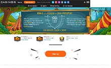 Casino-X kasino gjennomgang skjermbilde på  himmelspill.com 3