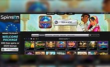 Spinson kasino gjennomgang skjermbilde på  himmelspill.com 2