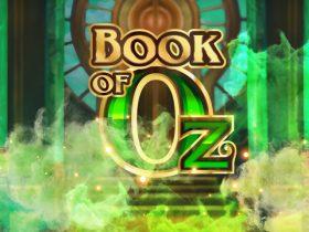 Røm til det magiske landet med Book of Oz, utgitt av Microgaming