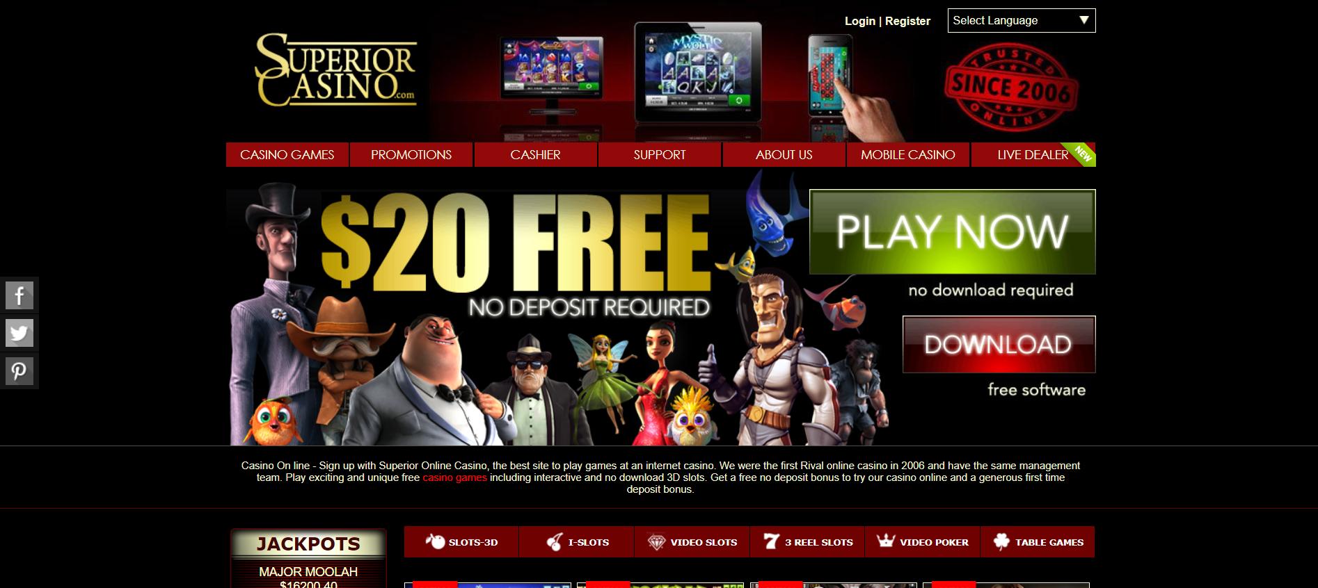Superior Casino – casinoet som har noe til alle når det gjelder spill himmelspill.com
